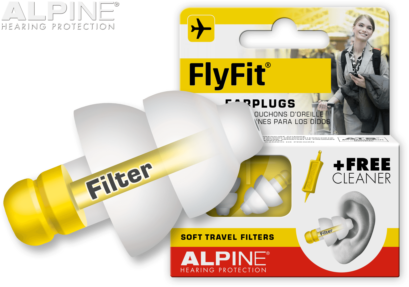 Ørepropper Fly - Alpine Flyfit ørepropper til flyveren